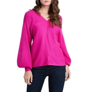 1.State Magenta Pink Sweater Ribbed Baloon Sz M